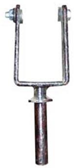 Уключина металлическая, посадочный диаметр 14 мм.