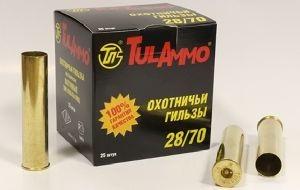 Гильза латунная Tulammo 70 мм, 28 калибр, 25 шт.