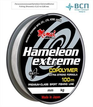 Леска  Hameleon Extreme 0,12-0,80 мм, прозрачная, 100 м