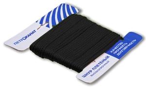 Шнур плетеный Стандарт длина 20 м, на карточке, диаметр 2,5 мм, черный