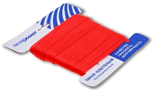 Шнур плетеный Стандарт длина 20 м, на карточке, диаметр 3,1 мм, красный