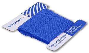 Шнур плетеный Стандарт длина 20 м, на карточке, диаметр 3,1 мм, синий