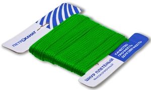 Шнур плетеный Стандарт длина 20 м, на карточке, диаметр 2,5 мм, зеленый