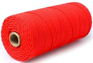 Шнур плетеный Стандарт длина 500 м,на бобине, диаметр 1,5 мм, красный
