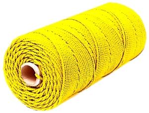 Шнур плетеный Стандарт длина 500м, на бобине, диаметр 2,5 мм, желтый
