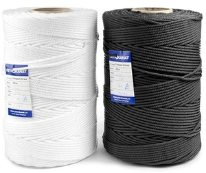 Шнур плетеный Универсал длина 500 м, на бобине - диаметр 4 мм, белый