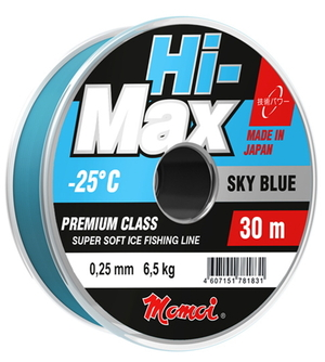 Леска Hi-MAX Sky Blue 0,27 мм, 7,5 кг, 30 м