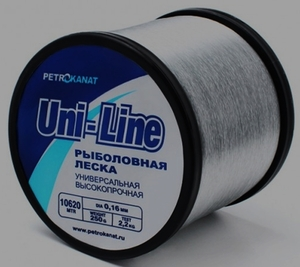 Леска UniLine на бобине  250 гр, 1080 м, диаметр 0,50 мм.