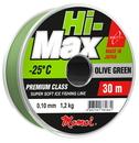Леска Hi-MAX Olive Green зеленая 0,10 мм, 1,2 кг, 30 м