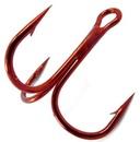 Крючок-тройник SCORPION, красный, размер № 1/0 - 30 шт.
