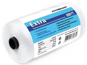 Нить капроновая белая Extra диаметр 1,20 мм, 210d/24, тест 35 кг, вес 500 гр, длина 790 м.