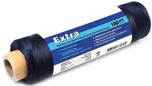 Нить капроновая черная Extra диаметр 1,80 мм, 210d/48, тест 70 кг, вес 100 гр, длина 80 м.