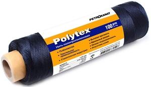Нить полипропиленовая Polytex PES, 210 den/15, диаметр 1,00 мм, 140 м, 100 гр, черная