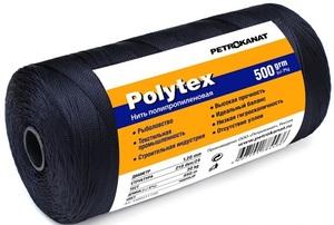 Нить полипропиленовая Polytex 210den/24, диаметр 1,20 мм, 850 м, 500 гр, черная