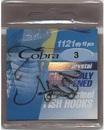Крючок COBRA, серия CRISTAL, черный никель, размер № 5 - 10 шт.