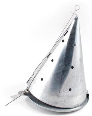 """Кормушка зимняя металлическая """"Конус"""", диаметр 70 мм."""