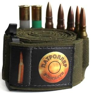 Патроллер, эластичный патронташ - бандольера на 100 патронов, 410 калибр