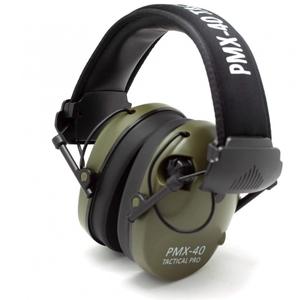 Наушники активные стрелковые PMX Tactical PRO PMX-40G 27-85 Дб хаки/черный