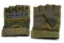 Перчатки тактические Стикхант укороченные прорезиненные кастет Хаки