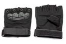 Перчатки тактические Стикхант укороченные прорезиненные кастет Черные