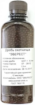 Дробь № 0000 Эверест 1,5 кг.
