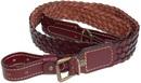 Ремень ХСН ружейный плетенный, VIP коричневая кожа (арт. 3040)