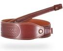 Ремень ХСН ружейный фигурный тисненый с винтовым соединением - VIP коричневая кожа (арт. 3011)