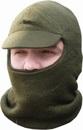 Лыжная шлем-маска с козырьком, оливковая