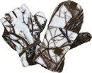 Варежки перчатки Белый лес из флиса