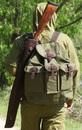 Футляр ружейный Стендовый  L-75 см, коричневая кожа с велюром