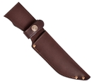 Ножны ХСН с рукояткой длина клинка 13 см,  люкс - коричневая кожа (арт. 6151-4)