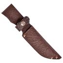 Ножны ХСН с рукояткой длина клинка 13 см, элита - коричневая кожа (арт. 6151)