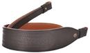 Ремень ХСН ружейный фигурный тисненый с винтовым соединением, люкс черная кожа (арт. 311-3)