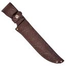 Ножны ХСН с рукояткой длина клинка 19 см, элита коричневая кожа (арт. 6148)
