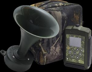 Электронный манок Hunterhelp Standart - 3 с динамиком TK- 9RU (большой и малый рупор), фонотека №4 - Гуси и утки