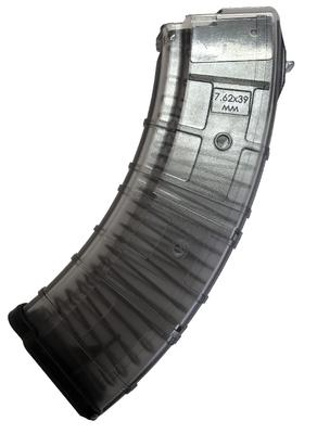 Магазин Pufgun для карабина Сайга-МК калибра 7,62x39, 30 мест, прозрачный (дубль)