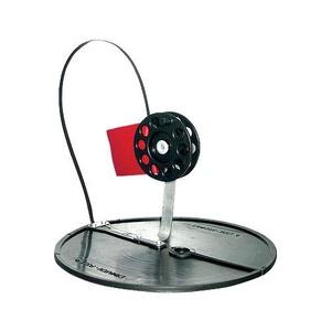 Жерлица зимняя, диаметр круглого основания 200 мм, катушка D-90 мм, стойка алюминий